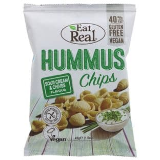 Eat Real Hummus Sour Cream Chips - 45g
